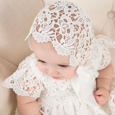 Lola Christening Gown & Bonnet Only) - Girls Christening Gown Baptism Outfit, Baptism Dress, Baptism Clothes, Girl Baptism, Christening Gowns For Girls, Baby Christening, Blessing Dress, Baby Blessing, Fancy Gowns