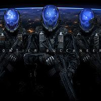 Personal artwork, Frontier Buccaneers, they're space pirates with holographic helmets that projects custom images, ravaging and destroying old ships and space stations :D  EDIT: Forgot to post up the credits, you can view them with the properly links up here a long with the Nasa stock photos :D http://johnsonting.deviantart.com/art/Frontier-Buccaneers-505277437