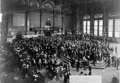 Trading On The Floor Of The New York Stock Exchange 1889 Stock Pictures, Royalty-free Photos & Images New York Architecture, Architecture Images, Chicago Events, Investing In Stocks, Vintage New York, Back In Time, Wall Street, Stock Market, Old Photos