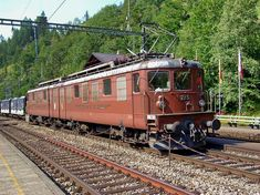 Swiss Railways, Locomotive, Iron, Mountain, Locs