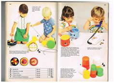 Scan from the Mothercare summer 1977 catalogue with the toy pans