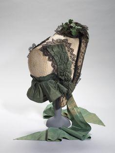 "Hat named ""capote"", c. 1860"
