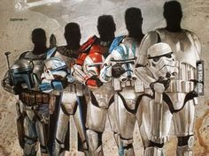Star Wars: The evolution of clones Star Wars Clone Wars, Star Wars Art, Star Trek, Star Wars Images, Fandom, Star Wars Poster, Pokemon, Clone Trooper, Love Stars