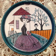 Laila Zink plate Ceramic Artists, Pottery Ideas, Earthenware, Textile Design, Finland, Folk Art, Bowls, Scandinavian, Cottage