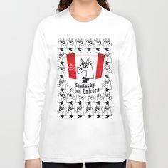 Kentucky Fried Unicorn Long Sleeve T-shirts