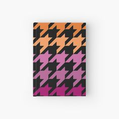 Hounds Tooth, My Notebook, Purple, Pink, Lesbian, My Arts, Art Prints, Stars, Abstract