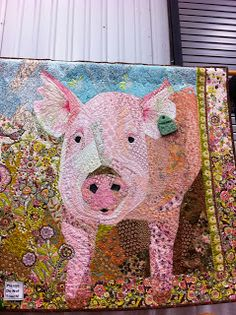 Pig Quilt - This is impressive!   I wish the blog had more details about it