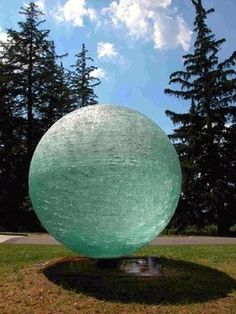 Monumental Chiseled Glass Sculpture by Henry Richardson at the Frost Art Museum, Florida International University, Miami