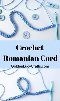 How to Crochet a Romanian Cord - GoldenLucyCrafts Crochet Romanian cord, how to. How to Crochet a Romanian Cord – GoldenLucyCrafts Crochet Romanian cord, how to crochet Romanian Crochet Cord, Freeform Crochet, Crochet Motif, Irish Crochet, Crochet Flowers, Crochet Lace, How To Crochet, Russian Crochet, Doilies Crochet