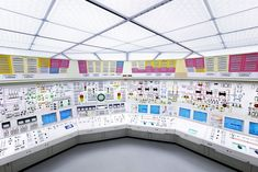 Beznau I Nuclear power plant, control room 2011
