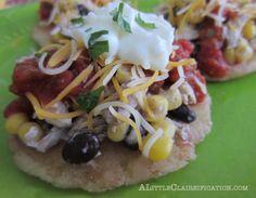 Chicken Arepas Recipe with ALittleClaireification.com #recipes #arepas @alittleclaire