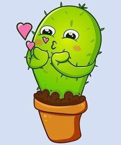 No photo description available. Cactus Drawing, Cactus Painting, Cactus Art, Kawaii Drawings, Cute Drawings, Kaktus Illustration, Baby Animal Drawings, Free Adult Coloring, Gift Ideas