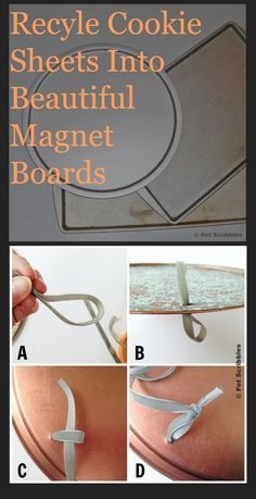Copper Patina Magnet Board (from a Cookie Sheet!) Cookie Sheet Crafts, Cookie Sheets, Magnetic Spice Racks, Diy Spice Rack, Diy Magnetic Board, Copper Spray Paint, Diy Arts And Crafts, Cute Crafts, Diy Crafts