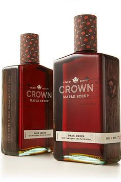 Crown's Line of Maple Syrups | The 25 Coolest Packaging Designs Of 2013