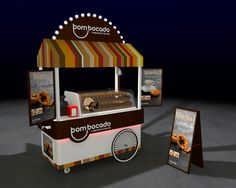 Cart design proposal for selling portuguese 'natas' near the beach.