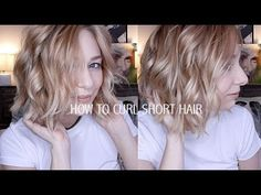 Hey guys! This tutorial is all about how I curl my short hair. It's messy, kinda beach waves, but also cute and put-together. It's super easy and takes me on...