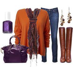 """Orange & Purple"" by qtpiekelso on Polyvore"