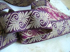 Vintage Inspired SCROLL Ren SCA Jacquard by SLCEmbellishments