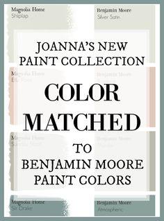 Magnolia Paint Colors, Fixer Upper Paint Colors, Magnolia Homes Paint, Matching Paint Colors, Magnolia Farms, Farmhouse Paint Colors, Kitchen Paint Colors, Bedroom Paint Colors, Exterior Paint Colors
