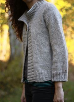 The Brown Stitch | Top-down Knitting Pattern | Concetta Cardigan