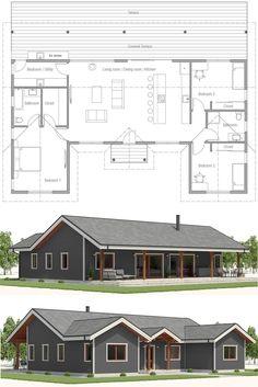 Hgtv Dream Home 2000 Trendy Ideas Metal House Plans, Pole Barn House Plans, Pole Barn Homes, New House Plans, Dream House Plans, Small House Plans, Small Floor Plans, Garage Plans, Metal Building Homes