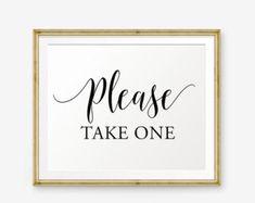 Wedding Please take one Sign Printable, Please Take One, Wedding Sign, Wedding welcome sign, Wedding Sign, Wedding Decor, reception sign