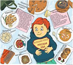 The Russian picture dictionary: Food of Russia