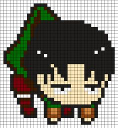 Levi Attack On Titan Perler Bead Pattern