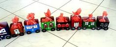 Advent train made of milk cartons - Christmas crafts - My grandchildren and I - Made wi . First Christmas, Christmas Holidays, Christmas Crafts, Christmas Decorations, Xmas, Holiday Decor, Hobbies For Kids, Hobbies And Crafts, Crafts For Kids