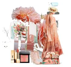 """""""Tea rose"""" by minalucinda ❤ liked on Polyvore featuring Dolce&Gabbana, Chloé, Gucci, Bobbi Brown Cosmetics and Yves Saint Laurent"""