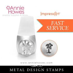 Impressart Metal Stamps - Palm Tree Design Stamp