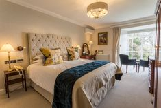 Every room is different - Storrs is a Grade II listed house after all. But the view is timeless. Executive Suites, Unique Hotels, Windermere, Through The Window, Contemporary Bathrooms, Drawing Room, Perfect Place, Relax, Bedroom