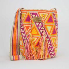 Handmade wayuu mochila bag - Dorada