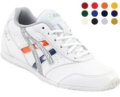 Asics Cheer 8 Kids Cheer Shoes White Cheerleading Shoes, Cheer Shoes, Rogan's Shoes, Buy Shoes, Kids Cheering, Fall Football, Crystal Shoes, Profile Design, Team S