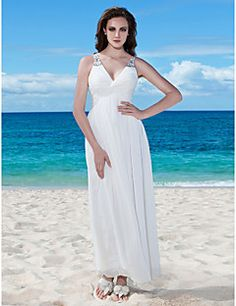 Lanting Bride® Sheath / Column Petite / Plus Sizes Wedding Dress - Chic