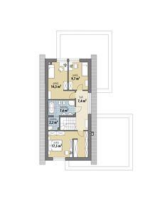 Marika House Outer Design, Minimal House Design, House Front Design, Duplex House Plans, New House Plans, Small House Plans, Modern Barn House, Modern House Facades, Small Villa