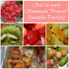 Homemade {Freezer} Smoothie Packets