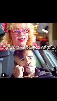 This is the episode with Morgan's cousin Cindy Derek Morgan and Penelope Garcia criminal minds Criminal Minds Morgan, Criminal Minds Funny, Criminal Minds Cast, Criminal Minds Garcia, Morgan And Garcia, Behavioral Analysis Unit, Crimal Minds, Penelope Garcia, Derek Morgan