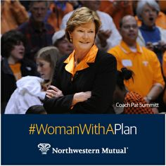 "Pat Summitt holds the most all-time wins for a coach in NCAA basketball history of either a men's or women's team. In 2009, Sporting News recognized her as one of the ""50 Greatest Coaches of All Time"". She was the only woman on the list. Summitt retired from coaching in 2012 and is the author of 3 books including Sum It Up which chronicles her life, career and recent diagnosis of early-onset Alzheimer's. Nothing can stop a #WomanWithAPlan"