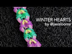 This is a hooked design. No loom needed. *Zuzu* WINTER HEARTS bracelet tutorial