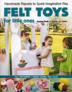 Create artistic handmade toys to delight young children with this how-to book Felt Toys for Your Little Ones by Jessica Peck, the popular designer of Sweetie Pie Bakery patterns. From a charming tea party and delicious ice cream shop to an adventuresome teepee, the fun-worthy projects in this book will ignite your child's imagination and provide hours of open-ended play.