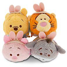 Mini peluche de Pâques Winnie l'Ourson et ses amis de la collection Tsum Tsum