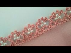 Crochet Beaded Lace Model We believe that tattooing can be a method that has been used since enough time of … Crochet Lace Edging, Bead Crochet, Crochet Flowers, Crochet Doilies, Baby Knitting Patterns, Free Knitting, Lace Making, Bracelet Tutorial, Embroidery Patterns