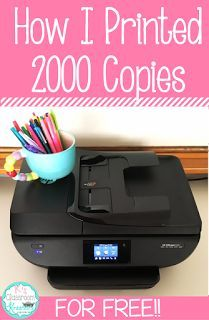 Ok teacher friends, have you heard about the HP Instant Ink program?? Today I'll share with you how I was able to print over 2,000 pages (i...