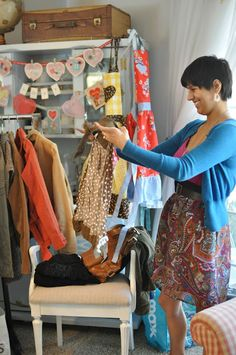 More ideas to simply display items. I always wanted to do this - hosting a clothing swap Accessories Display, Party Accessories, Swap Party, Rearranging Furniture, Clothing Swap, Ladies Luncheon, Portraits, Party Entertainment, Upcoming Events