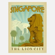 Is it time to go back yet? Well, in the meantime, I can look at this beautiful Singapore poster designed by Anderson Design group! As seen on fab.com