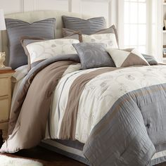Winter Frost 8 Piece Comforter Set Queen >>> Be sure to check out this awesome product. Decor, Furniture, Comforter Sets, Comforters, Home Textile, Bed, Bedding Stores, Bedding Sets, Luxury Comforter Sets