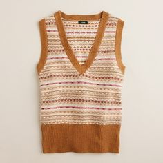 Dream Fair Isle vest found on Polyvore