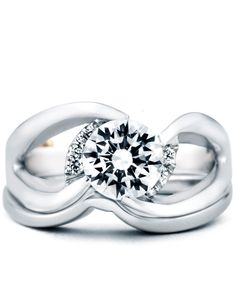 Rendezvous Engagement Ring with Wedding Band - Mark Schneider Design