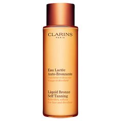 Buy Clarins Liquid Bronze Self Tanning for Face and Décolleté, 125ml Online at johnlewis.com
